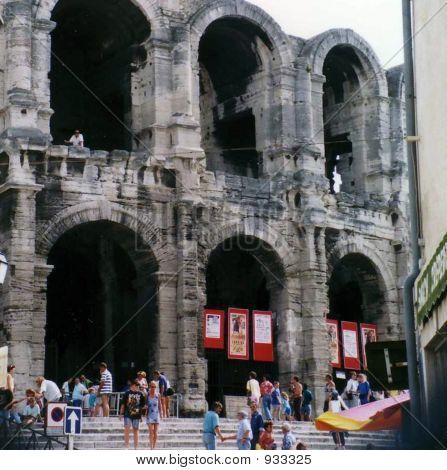 Roman Coliseum In Arles