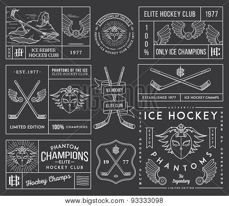 Hockey Badges And Labels Vol. 2 White
