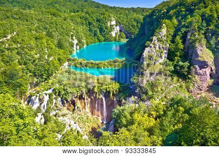 Paradise Waterfalls Of Plitvice Lakes National Park