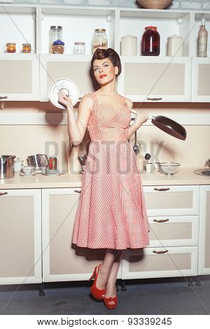 The Girl With A Frying Pan.