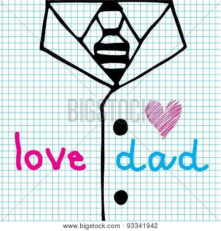 Love Dad Necktie And Suit