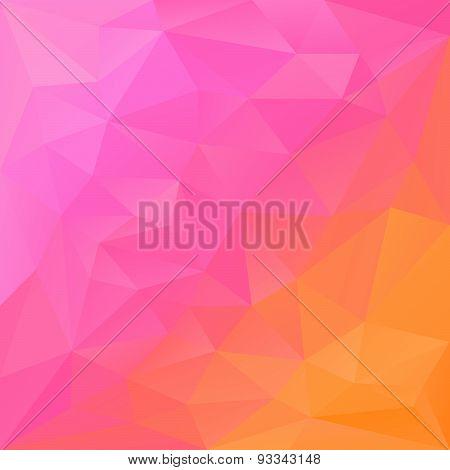 Vector Polygonal Background Triangular Design In Reflection