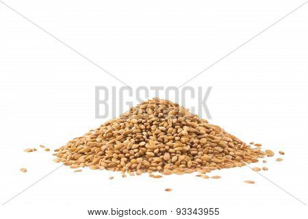 Spelt Heap Isolated On White