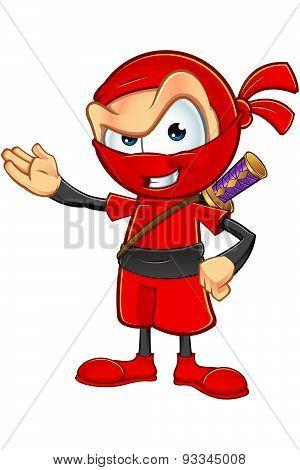 Sneaky Red Ninja Character