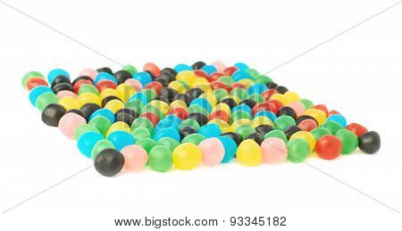 Multiple candy ball sweets isolated
