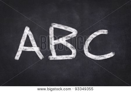 Abc / Alphabet written on chalkboard