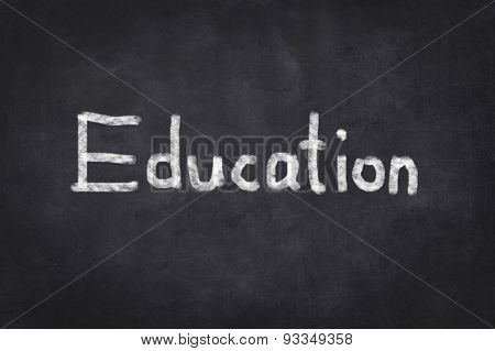 Education, written text on chalkboard