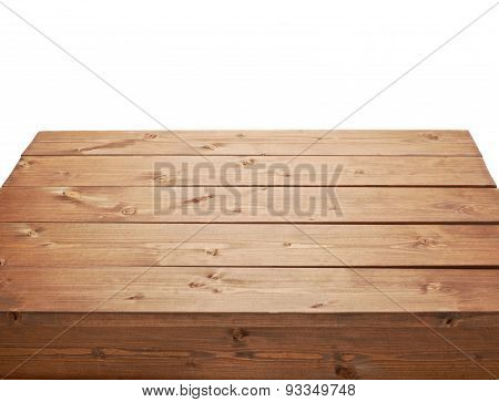 Wooden brown table fragment