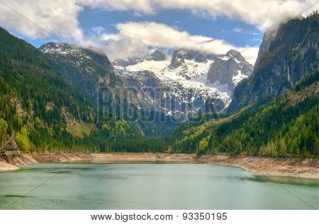 Mountain lake in Austrian Alps.