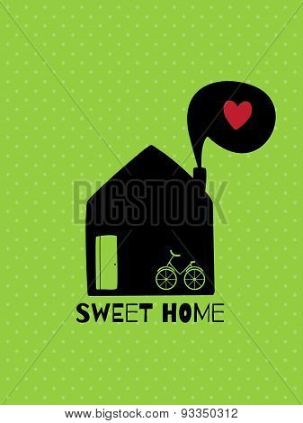 Greeting Card. Sweet  Home.
