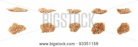 Whole grain cereal flake isolated