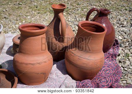Four Ceramic Jugs