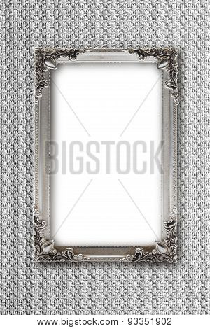 Silver Picture Frame On silver Background With Effects