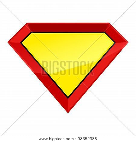 Super man empty shield template.