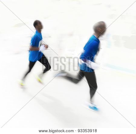 Two Men Running