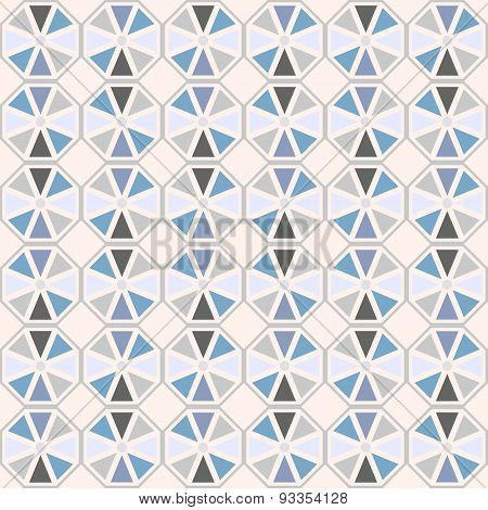 Vector seamless pattern. Stylish geometric seamless texture of colored hexagons