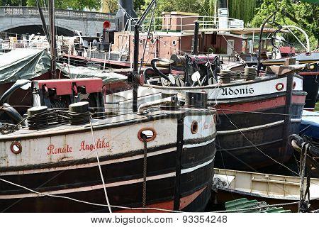 ships in the harbor in Berlin