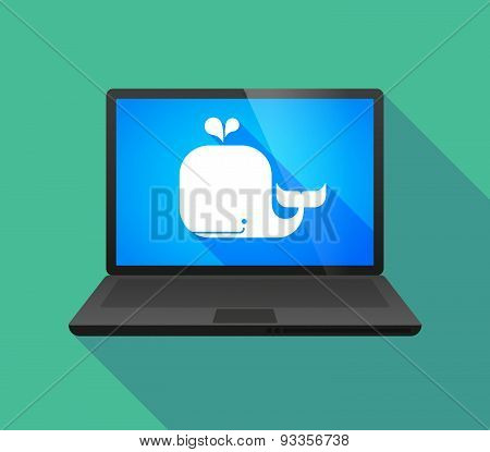 Laptop Icon With A Whale