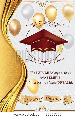 Happy Graduation greeting card for print.