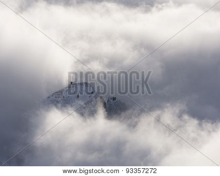 Snow-capped Mountain Peak