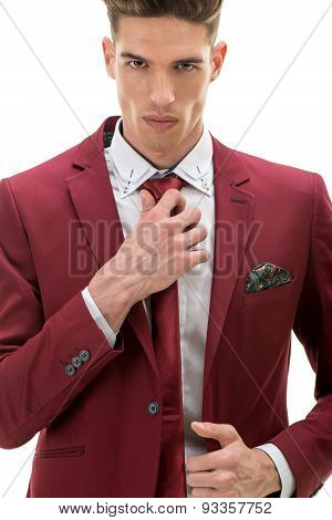 Portrait Of A Handsome Man In Suit