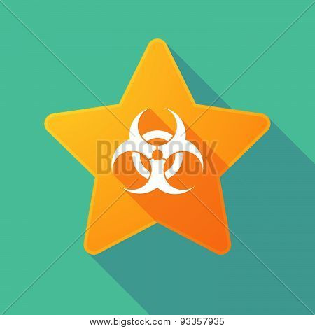 Long Shadow Star With A Biohazard Sign