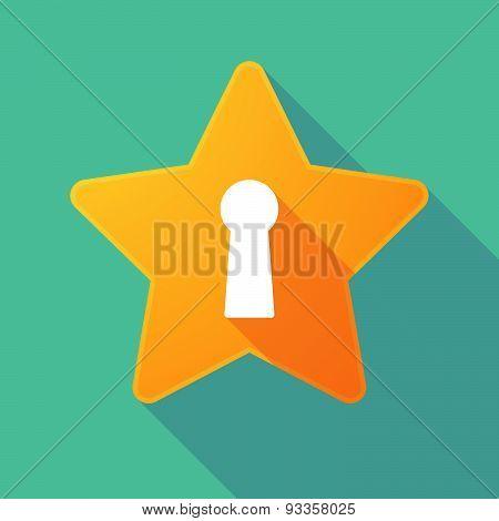 Long Shadow Star With A Key Hole