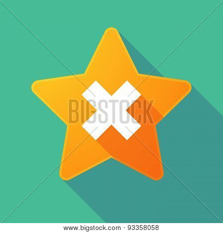 Long Shadow Star With An X Sign