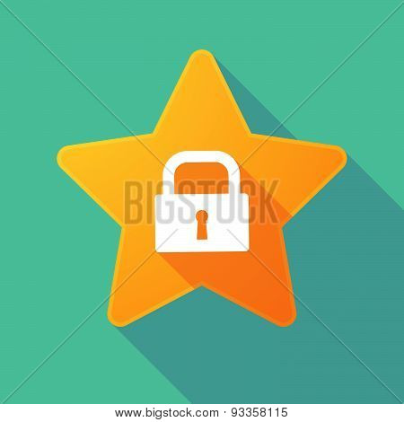 Long Shadow Star With A Lock Pad