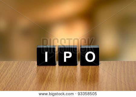 Ipo Or Initial Public Offering On Black Block