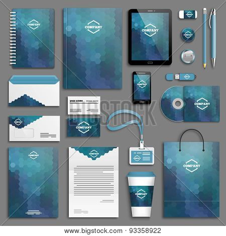 Corporate identity template set - blue