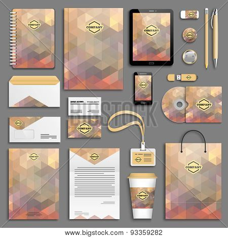 Corporate identity template set - brown