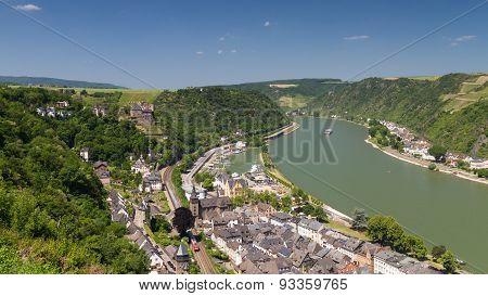 Upper Middle Rhine Valley Near St. Goar