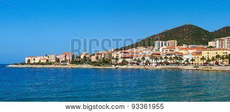 Panoramic view of the Ajaccio. Corsica, France.