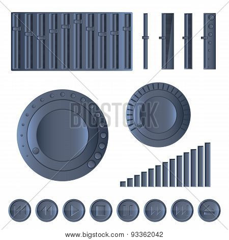 Multimedia Set, Vector Illustration