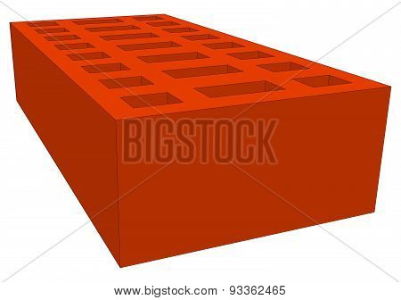 Brick on white