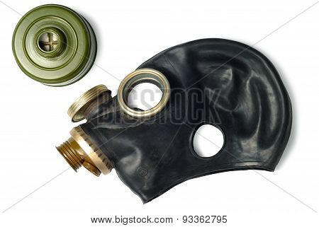 Disassembled Gas Mask