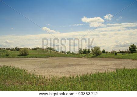 Dry Lake Landscape