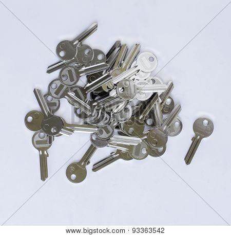 Many Blank Keys