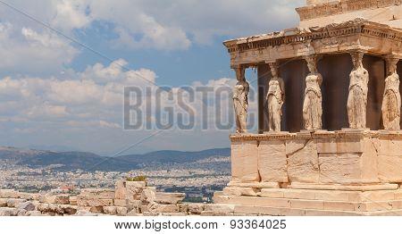 A Caryatid. Athens, Greece.