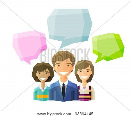 information, conversation, opinion  vector logo design template. discussion, debate, deliberation, c