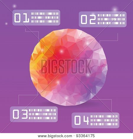 Colorful Polygon Vector Infographic