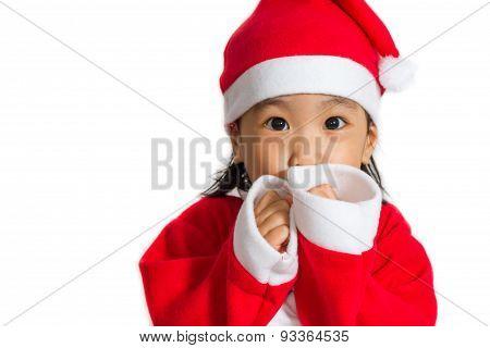 Asian Chinese Santa Girl