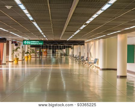 The Pathway At Airport.