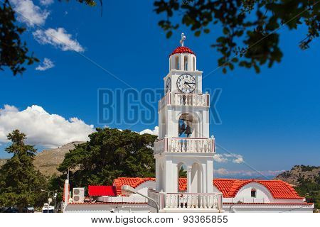 Tsambika Monastery bell tower Rhodes Island, Greece