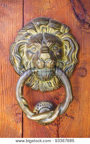 Old door decoration closeup