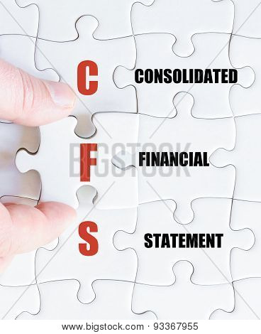 Last Puzzle Piece With Business Acronym Cfs