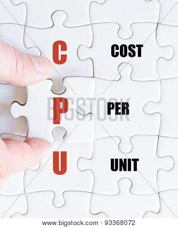 Last Puzzle Piece With Business Acronym Cpu