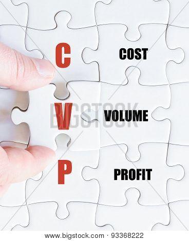 Last Puzzle Piece With Business Acronym Cvp