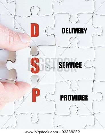 Last Puzzle Piece With Business Acronym Dsp